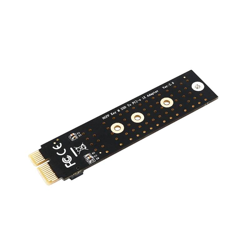 <font><b>PCIE</b></font> to M2 Adapter NVMe SSD M2 <font><b>PCIE</b></font> <font><b>X1</b></font> Raiser PCI-E PCI Express M Key Connector Supports 2230 2242 2260 2280 <font><b>M.2</b></font> SSD Full Speed image