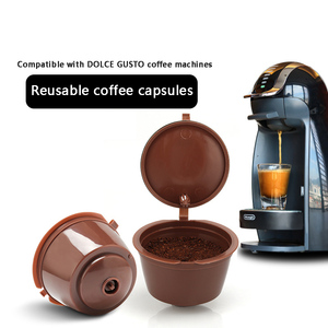 Image 3 - Nespresso 1/2/3 Pcs Koffie Capsule Nestle Dolce Gusto Capsule Herbruikbare Koffie Filter Capsule Machine Hervulbare Cafe capsula
