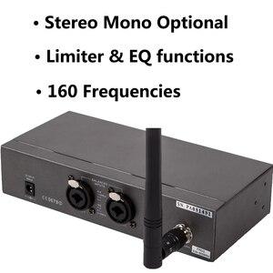 Image 2 - Pasgao PR90 Sistema de monitor intrauditivo estéreo, sistema de monitor inalámbrico, tamaño ligero y pequeño, 655 679MHZ