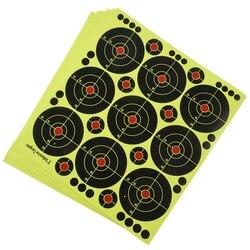90 pièces 3 pouces cibles cible de papier anti-éclaboussures réactive pour la chasse à l'arc