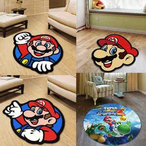 Round Carpet Floor-Pad Room-Chair 3d-Rug Bedroom Kitchen Large Kids Super-Mario Mat No