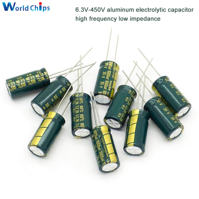 10pcs jwco 25V 3300UF Electrolytic Capacitor 105C 16x26mm