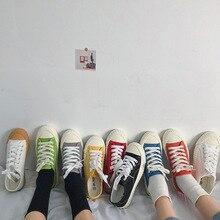 SWYIVY kadın vulkanize ayakkabı kadın Sneakers kanvas ayakkabılar dantel up karışık renkler daireler bayanlar nefes beyaz kanvas ayakkabılar kanvas ayakkabılar