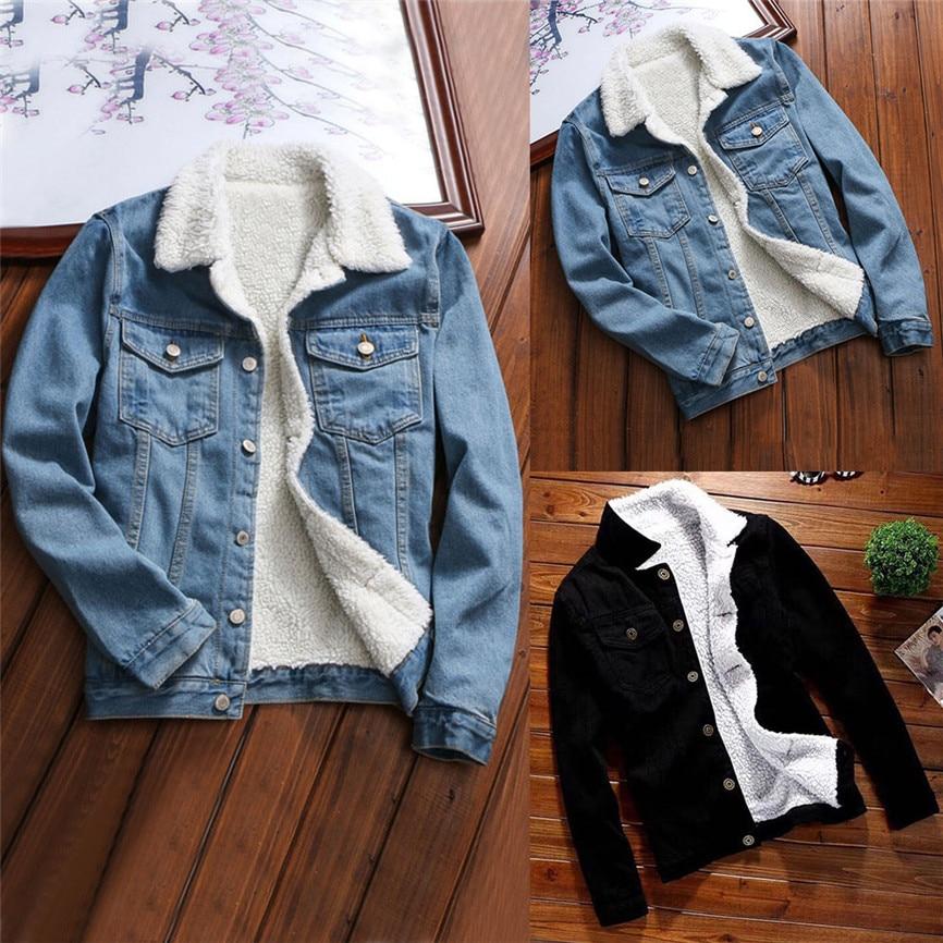 Denim Jackets For Girls Female Jacket Plush Coat Women Autumn Winter Denim Upset Jacket Vintage Long Sleeve Loose Jeans Coat 5