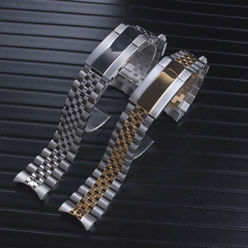 20mm Silver Solid Stainless Steel Watch Band For Role datejust Watchbands Link Strap | Fotoflaco.net
