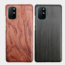 OnePlus 8T 7T/ 7T Pro 7/8 /8 Pro 목재 로즈 우드 대나무 호두 Enony Wood 슬림 하드 백 케이스 커버