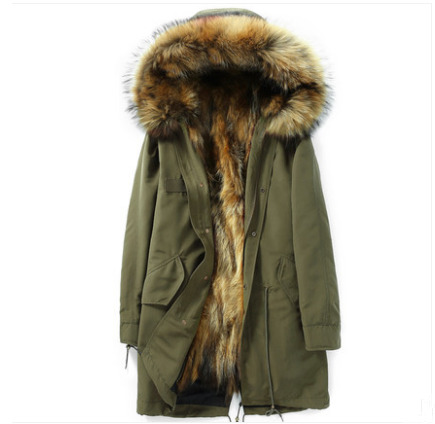 Real Fur Coat Men Jacket Real Raccoon Fur Parka Winter Jacket Men Streetwear Warm Jackets Plus Size Veste Homme Hiver MY2024