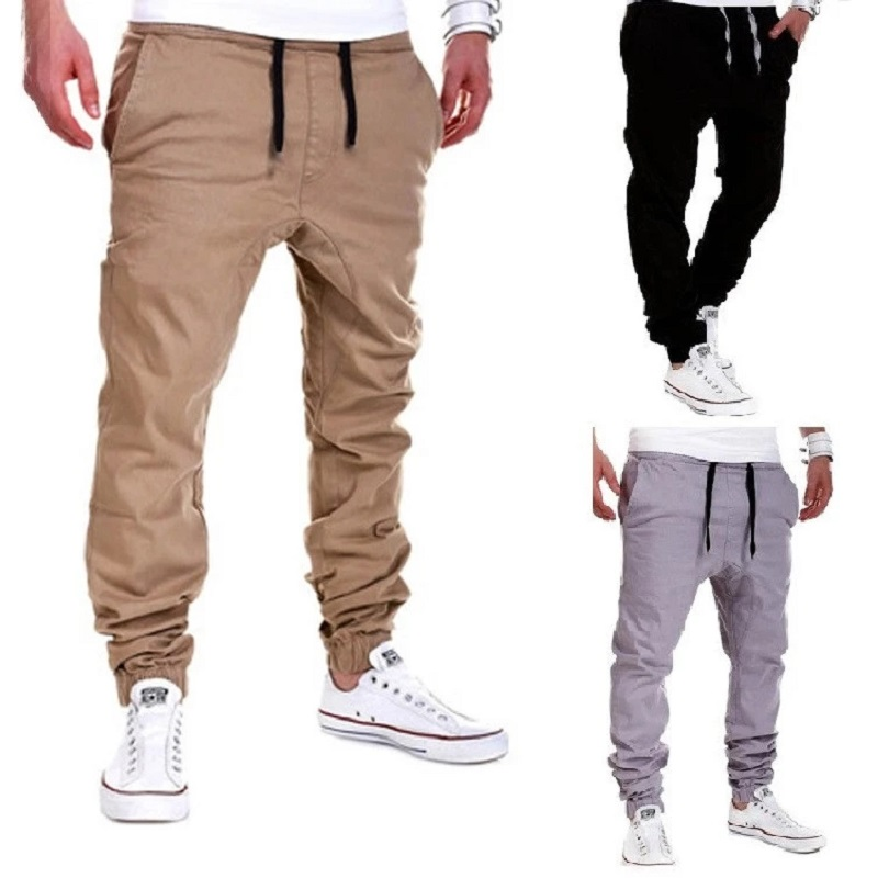 Brand Pants Men Casual Elastic Long Trousers Male Cotton Plaid Straight Gray Work Pant Men's Spring Large Big Size