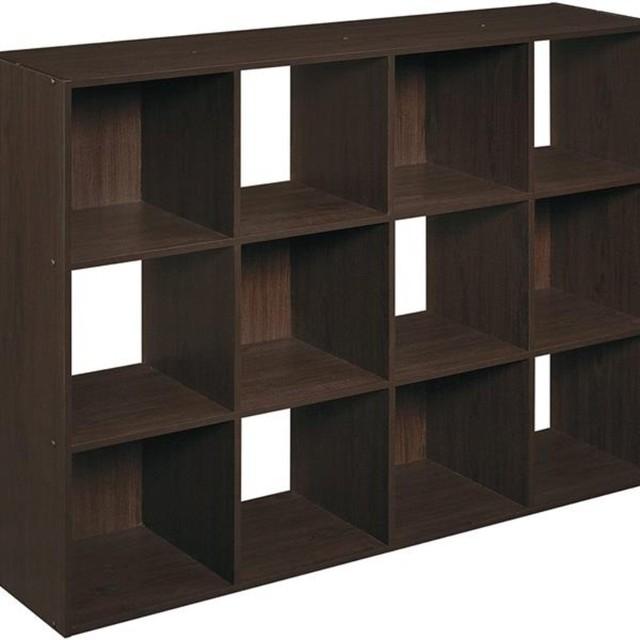 12 Cubes Wooden Bookcase Organizer 4