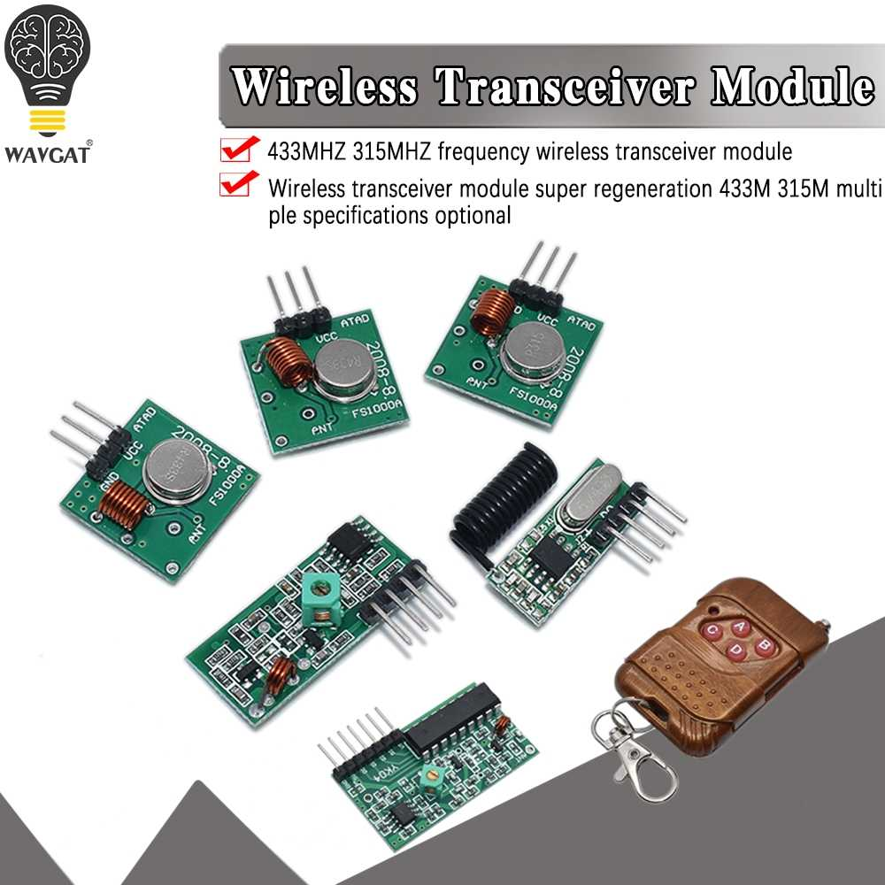 315Mhz RF transmitter and receiver Wireless link kit for Arduino Raspberry Pi