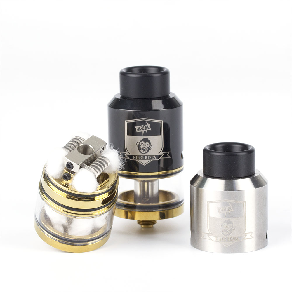 Coil Father King RDTA Style 810 RDA RTA 3.5ml Capacity 25mm Vaporizer Tank For Electronic Cigarette Box Mod Hookah Vape Atomizer