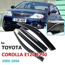Rain-Guard SHELTERS E130 Corolla E120 Toyota Car-Accessories Car-Window-Visor for 2000--2006-Sedan