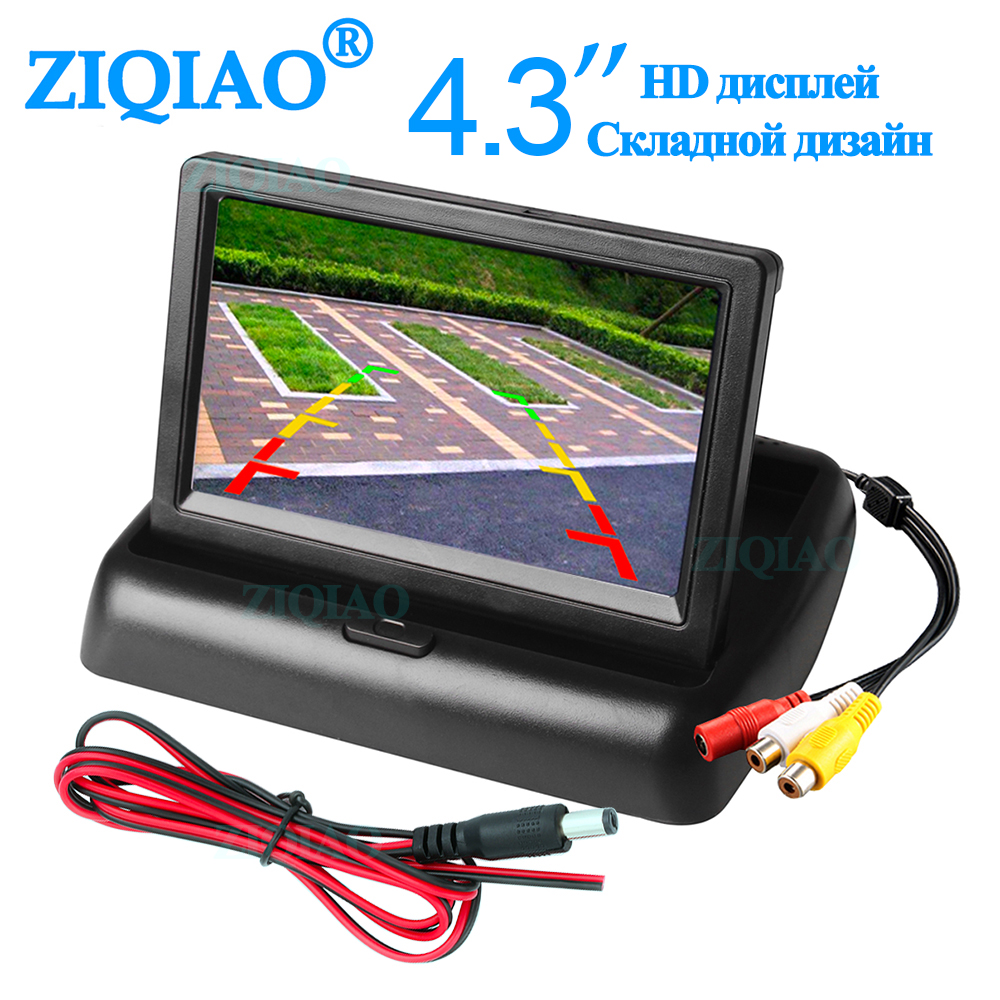 <font><b>4.3</b></font> <font><b>Inch</b></font> Car <font><b>Monitor</b></font> Foldable TFT LCD Car Rear View <font><b>Monitor</b></font> Display Parking Rearview System with 2 channel Video Input image