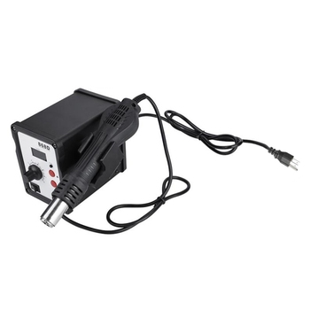 BHTS-868D 700W Digital Display Anti-Static Hot Air Rework Soldering Station with 5 Nozzles Ground Wire Tweezers