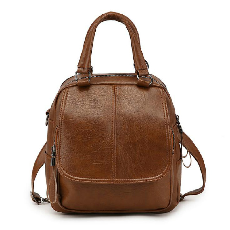 Fashion New Women's Anti-theft Backpack British Style School Bag Leisure Travel Multi-function Shoulder Bag