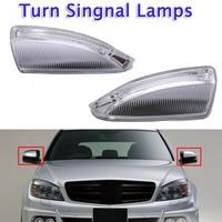 2 pcs Car Rear View Mirror Turn Signal Light 12V For Mercedes Benz W204 W639 C63 C300 C350 S204 Turn Signal Light