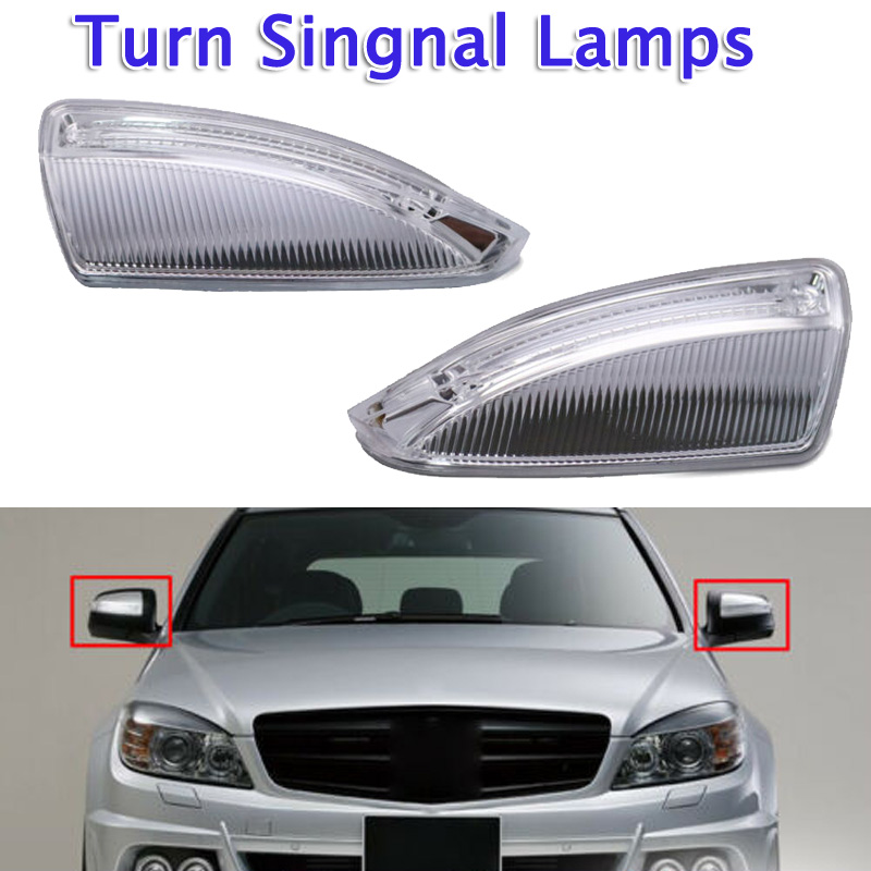 2 pcs Car Rear View Mirror Turn Signal Light 12V For <font><b>Mercedes</b></font> Benz W204 W639 C63 <font><b>C300</b></font> C350 S204 Turn Signal Light image
