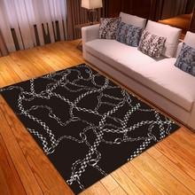 Łańcuch Retro Print nowoczesna dekoracja sypialni dywaniki dywaniki łazienkowe maty kuchenne antypoślizgowe dywaniki niestandardowe wycieraczki wejściowe tanie tanio Japan style Maszyna wykonana Prostokąt Domu Hotel Bedroom Dekoracyjne Łazienka Kilim Pranie ręczne Mechanicznej wash