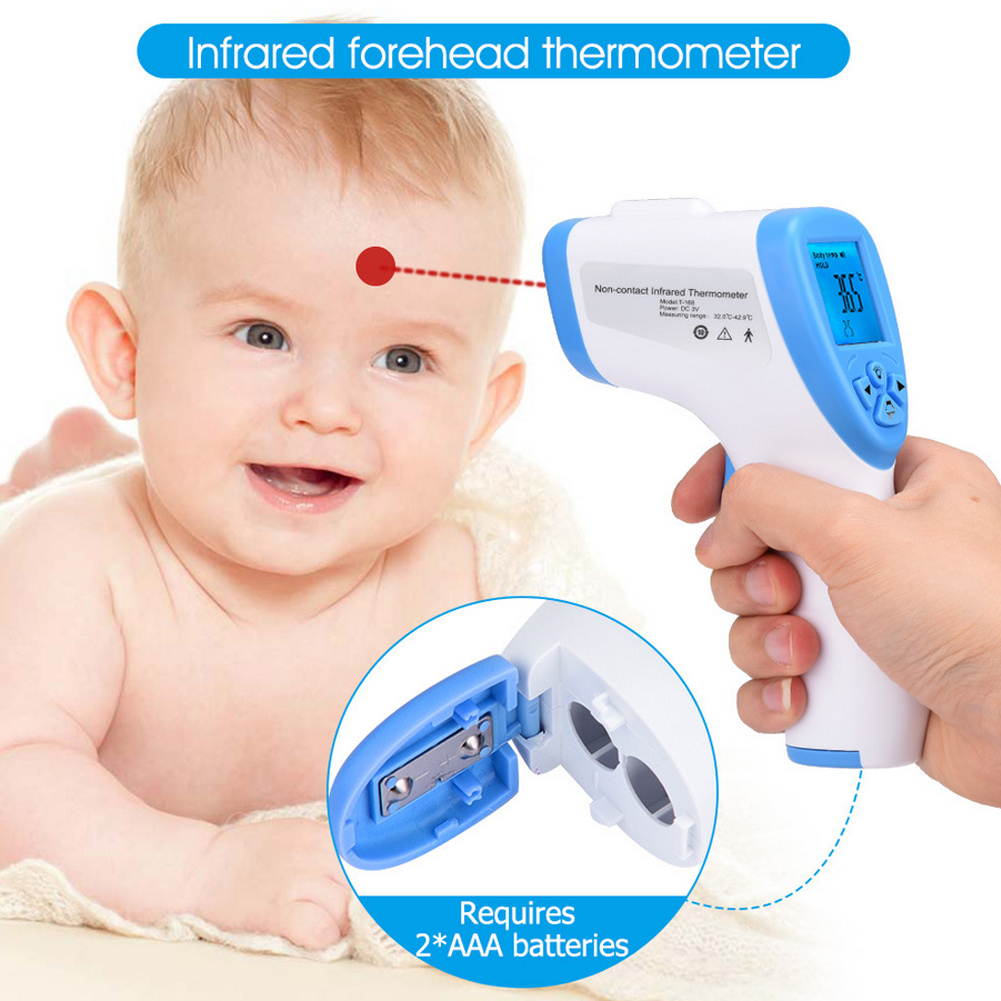 Infrared Thermometer Baby Thermometers Digital LCD Thermometers Temperature Measurement Tool for Kids Children Adults Infants