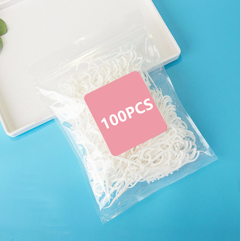 100pcs/lot Dental Flosser Oral Hygiene Dental Sticks Dental Water Floss Oral Teeth Pick Tooth Picks ABS Floss With Portable Case