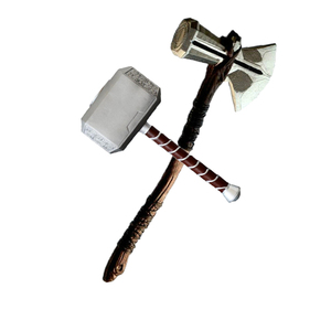 44cm Thor Axe Hammer Thor's Hammer Cosplay 1: 1 Guns Figure Model Kids Gift Movie Role Playing Safety EVA Toy Material