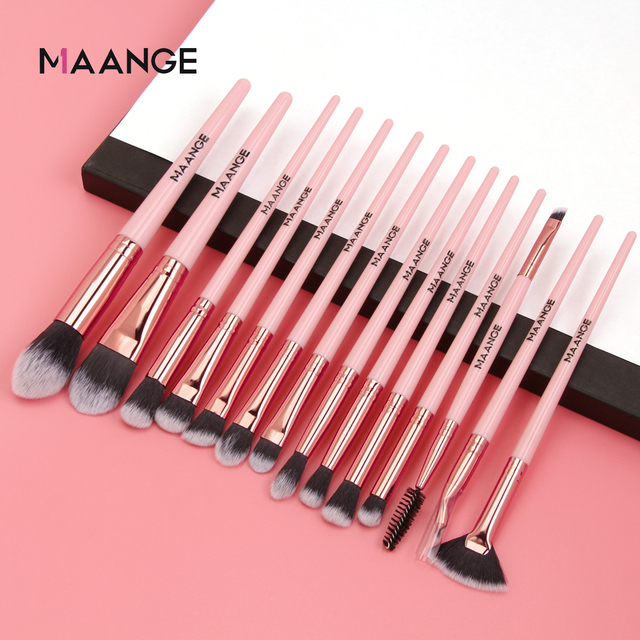 Makeup brushes set professional 12/14 pcs/lot Makeup Brushes Set Eye Shadow Blending Eyeliner Eyelash Eyebrow Brush For Makeup 1