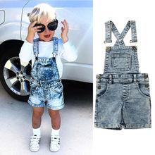 Baby Boy Girl Denim Jeans Dungarees Blue Overalls Jumpsuit Bib Pants
