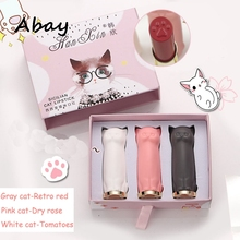Abay Women Makeup Set 3p/Set Cute Cat Paw Lipstick Cat lip S