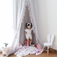 Pillow House-Tent Bed Curtain Baby Mosquito-Net Room-Decor Children's New Chiffon Play