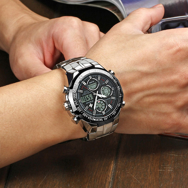 Фото wwoor повседневные спортивные мужские светящиеся часы с хронографом