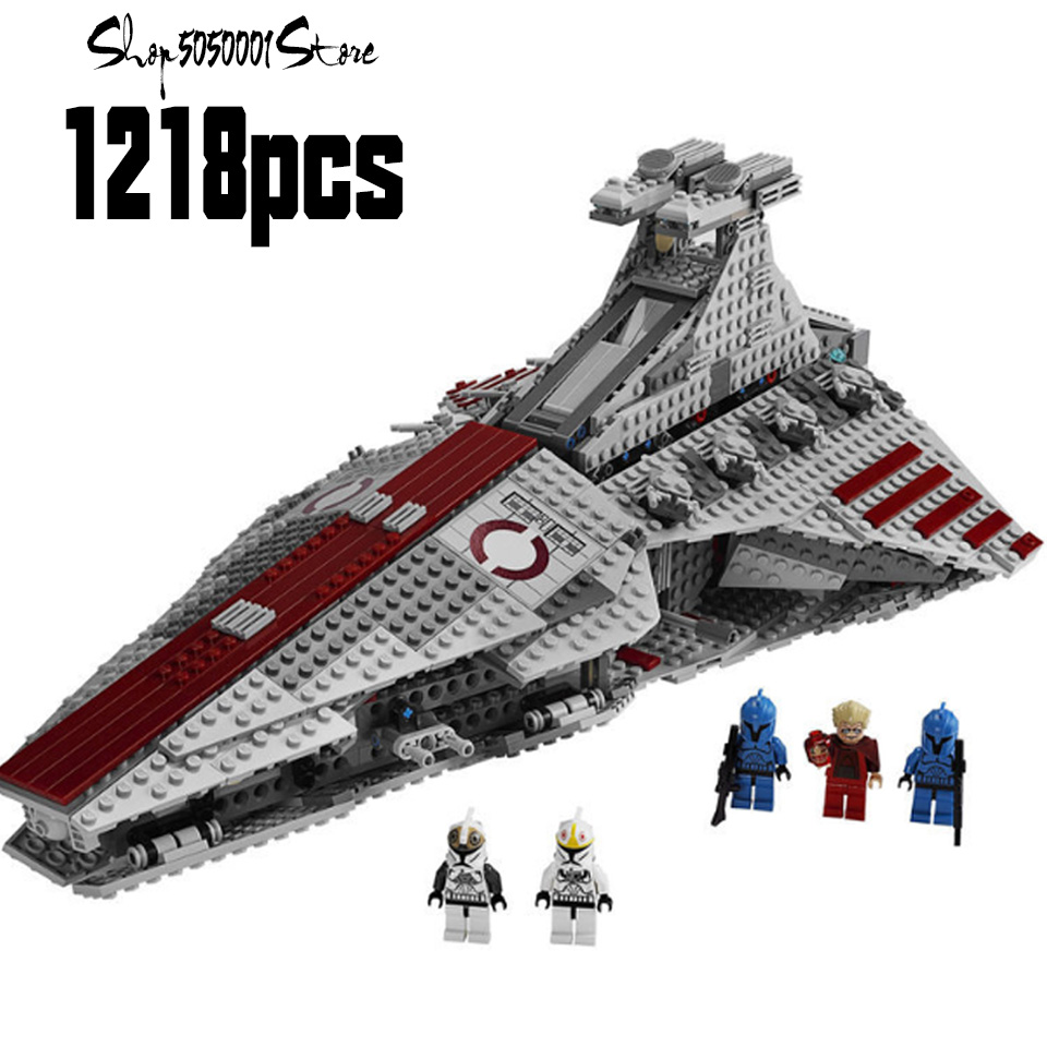 2019 Star Series Wars The Venator-class Republic Attack Cruiser StarWarlys  Model Building Blocks Compatible Legoinglys Toys