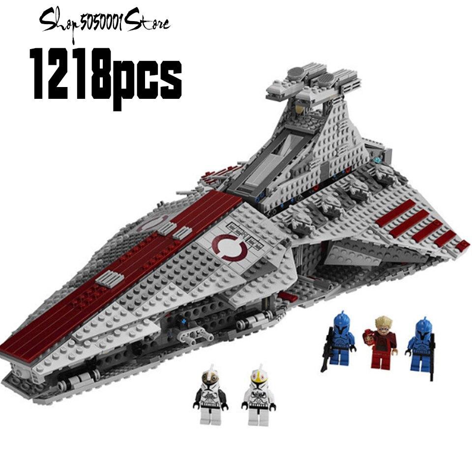 2019 Star Series Wars The Venator-class Republic Attack Cruiser StarWarlys  Model Building Blocks Compatible Lepining Toys