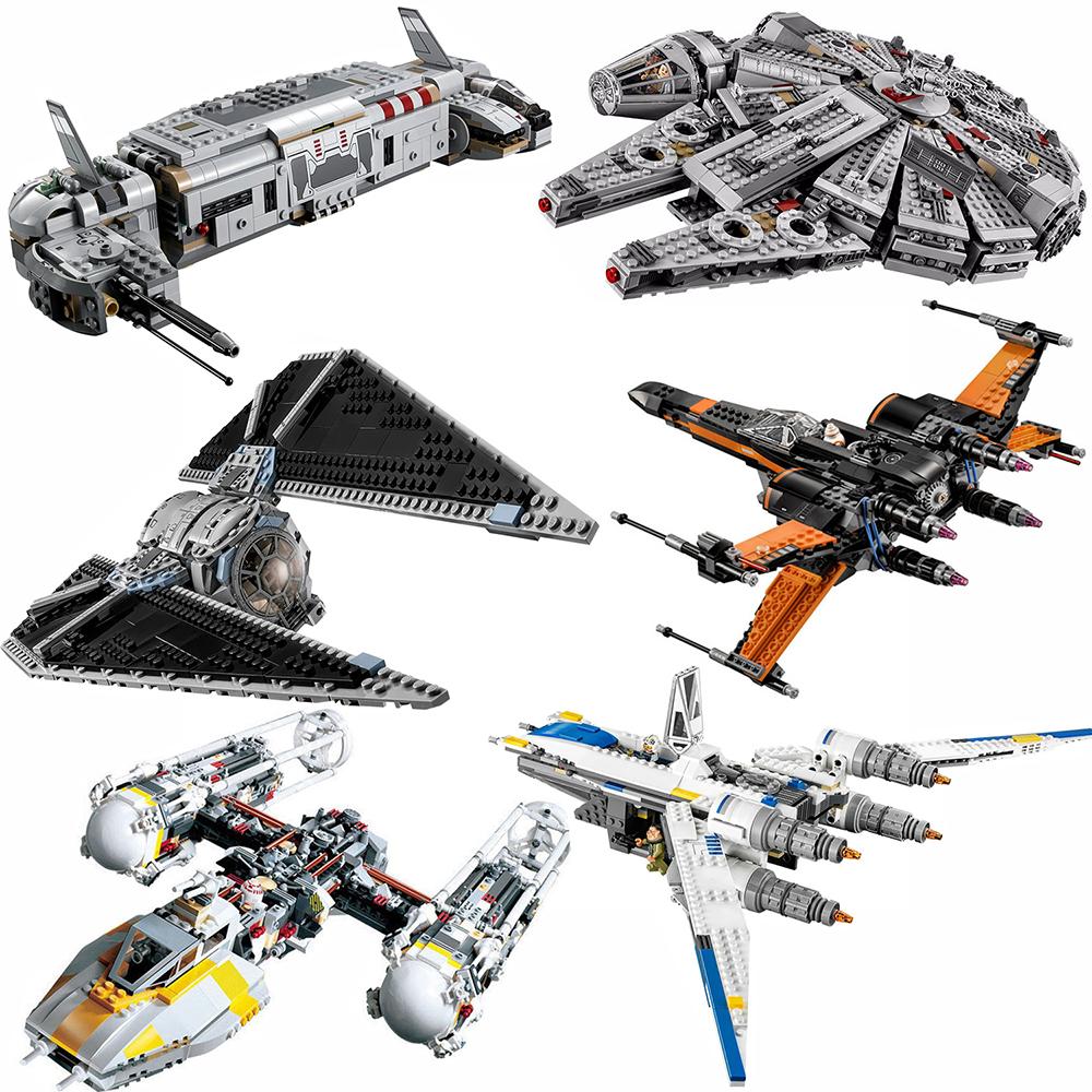 City Starwars For Legoing Technic X-wing Attack Starfighter Star Series Wars Millennium Kits Falcon Spacecraft Toys For Children