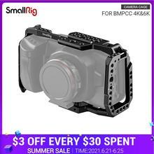 سمولتلاعب BMPCC 4K 6K الإفراج السريع هيكل قفصي الشكل للكاميرا ل بلاكماجيك تصميم جيب سينما 4K قفص مع الناتو السكك الحديدية يمكن الحذاء جبل-2203