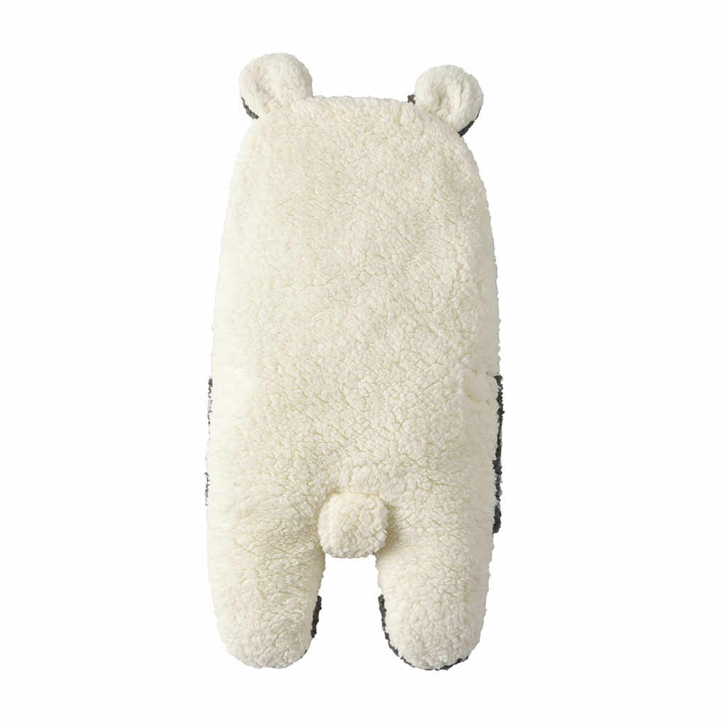 طفل قماط النوم بطانية الوليد الرضع الشتاء لطيف الكرتون الحصان طباعة الطفل الدافئة قماط بطانية