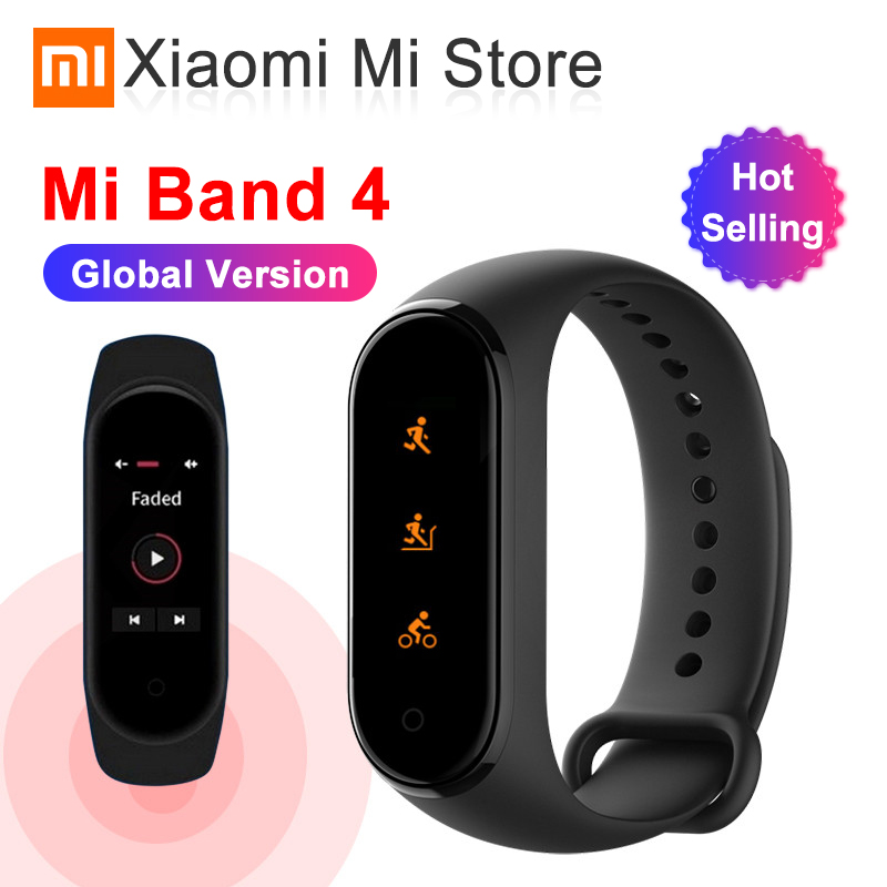 In Stock Global Version Xiaomi Mi Band 4 Smartband 3 Color Screen Heart Rate Miband 4 Fitness Bracelet Bluetooth 5.0 Waterproof