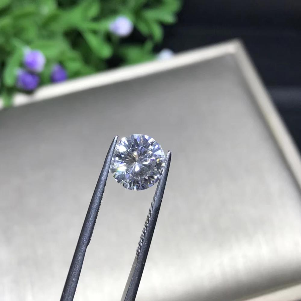 1pcs 5mm 0.5ct GH color Loose Moissanite Round Brilliant Cut Moissanite Test Positive Lab Grown Diamond Loose Gems Stones