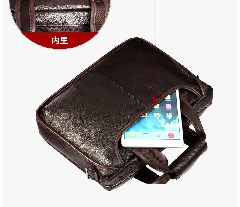 Hbd12f89e9b2f4e3ab3b85c70225fc7d3L 2019 New Fashion cowhide male commercial briefcase /Real Leather vintage men's messenger bag/casual Natural Cowskin Business bag