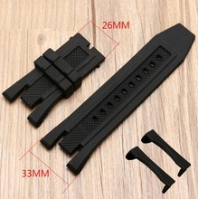 33*26mm Black Rubber Watch Band Strap Fits For Invicta Subaqua Noma V 5 Replacement Bracelet Noma5