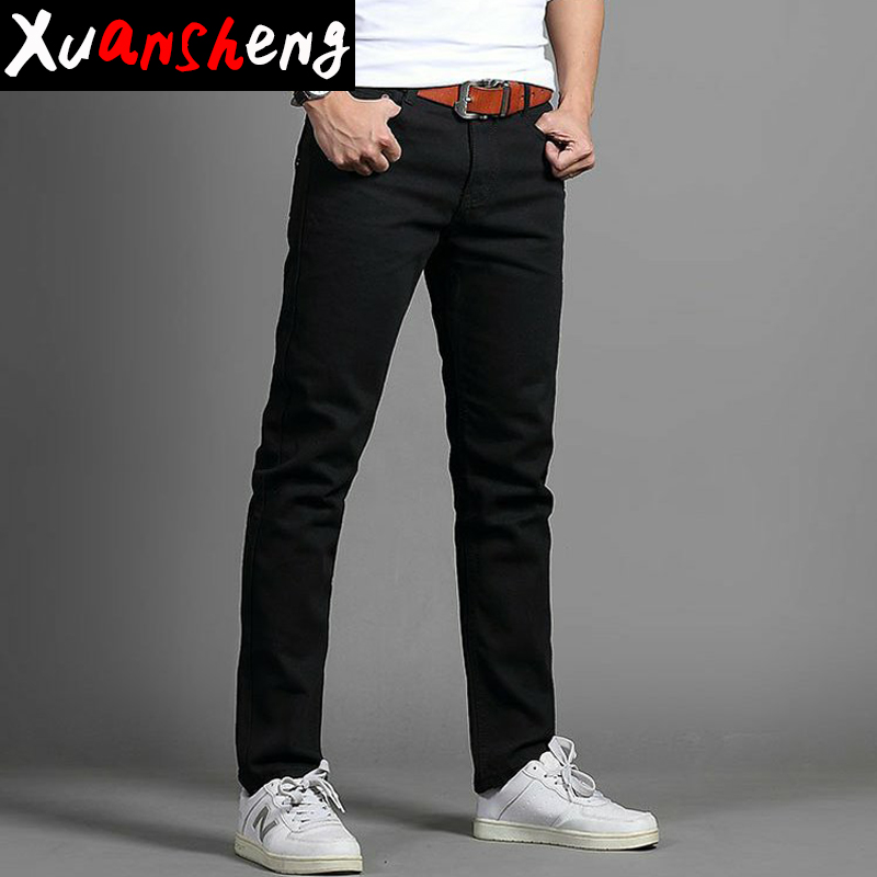 Xuansheng Brand Straight Men's Jeans 2019 Spring Autumn Thick Section Black Blue Overalls Clearance Specials Long Pants Jenas