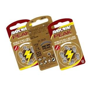 Image 5 - Batteries pour appareil auditif, 30 pièces, 5 cartes, RAYOVAC PEAK A10/PR70/10 Zinc, batterie à Air, 1.45V, diamètre 5.8mm, épaisseur 3.6mm