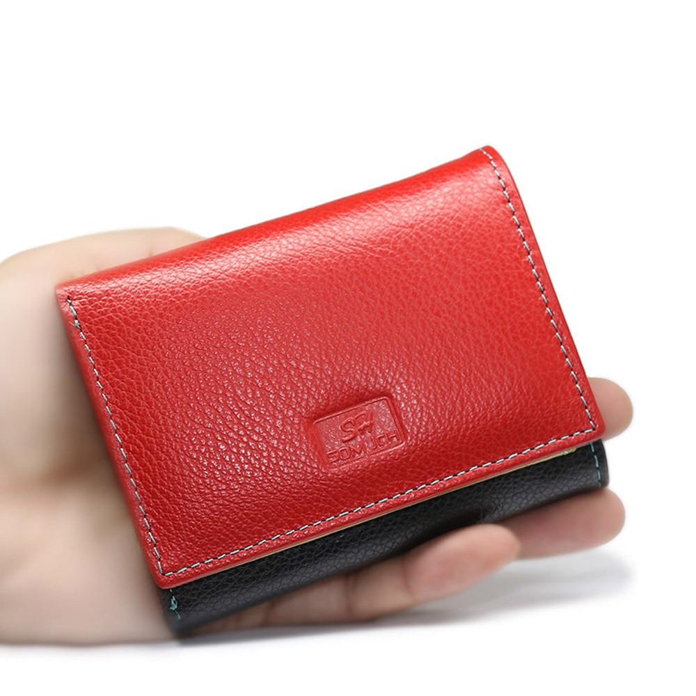 Small Genuine Leather Wallet Women Luxury Brand Famous Mini Women Wallets Purses Female Short Card Holrder Coin Zipper Purse