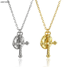 ANDYWEN 925 Sterling Silver Gold Irregular Coins Cross Pendant Necklace Long Chains Gold Rock Punk