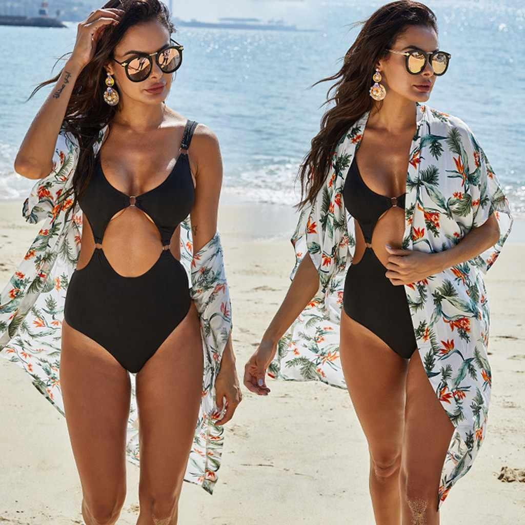 Bikini Cover Up Schal Tops Mantel Sommer Chiffon Schattierung Jacke Damen