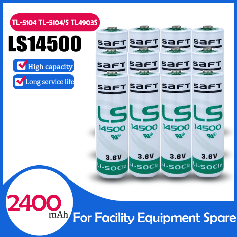 12 sztuk oryginalny Saft LS14500 LS 14500 ER14505 3.6V 2400mAh AA bateria litowa do urządzenia PLC sprzęt zapasowy miernik sucha bateria