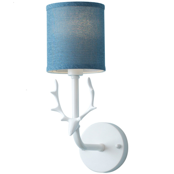 Nordic Bedroom Wall Lamp Bedside Lamp Modern Simplicity Personality Originality Iron Deer Head American Style Lampara De Pared