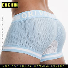 OR Underwear Brand Mesh Mens Underwear Cotton Boxers Underpants Breathable Boxer Shorts Men Panties Sexy Male Underwears cueca(China)