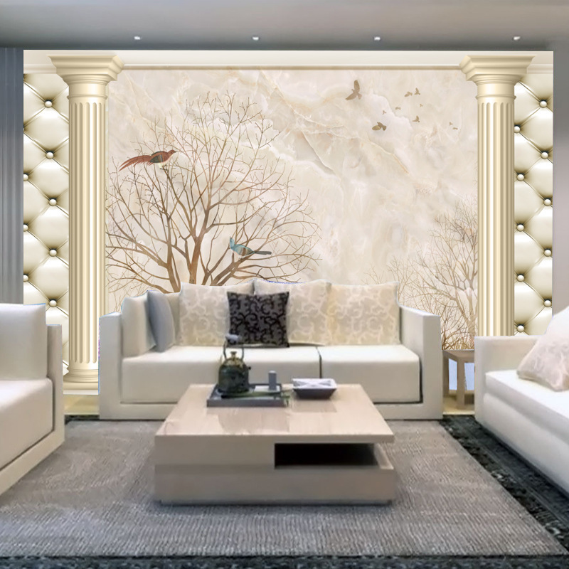 Large Mural Living Room Television Background Wall Wallpaper Wall Covering Fabric Sofa 3D Film And Television Wallpaper Wall Clo