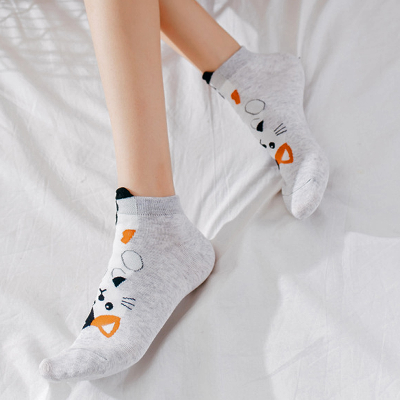 Women Socks Cat Dog 3D Cartoon Animal Pattern No Show Ankle Invisible Socks Cotton Short Socks Low Socks Women Cute For Girls