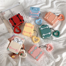 Cartoon Suitcase беспроводные наушникиFor Airpods Cover Cute Silicone Bluetooth Wireless Earphone Case For Apple Air pods Bag